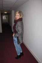 burgundy scarf H&M scarf