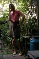 forever 21 blouse - Old Navy skirt - Rachel Comey belt - BC shoes