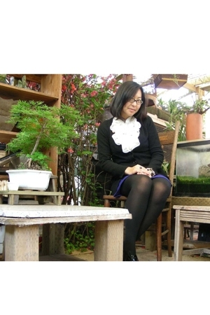 blouse - Uniqlo sweater - INC skirt - Aldo shoes