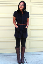APC dress - danskin leggings - Rachel Comey belt - Arturo Chiang shoes