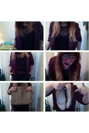 hipster glasses UrbanOG glasses - purple blazer Forever21 blazer