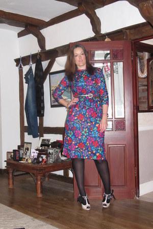 blue vintage Beyond Retro dress - neutral Topshop heels