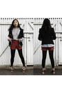 Black-chica-booti-blazer-dark-brown-boots