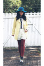 Silver-aztec-booties-charlotte-russe-boots-light-yellow-rupsapa-coat