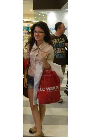 Bershka shorts - Kappa glasses - IL Camino flats