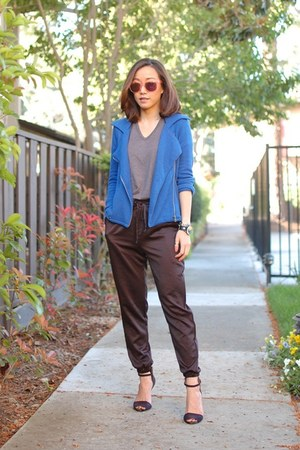 BDG jacket - Wildfox sunglasses - Zara heels - MinkPink pants