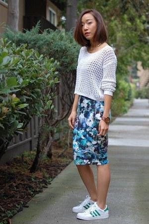 Topshop skirt - asos skirt - Adidas sneakers
