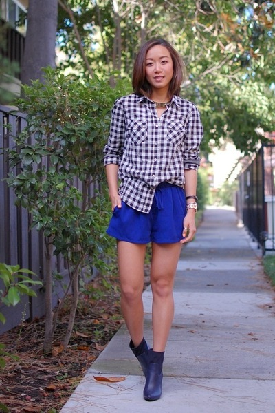 madewell shirt - Yes boots - asos shorts