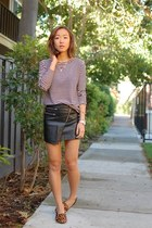 H&M skirt - franco sarto shoes - madewell t-shirt - French Connection necklace