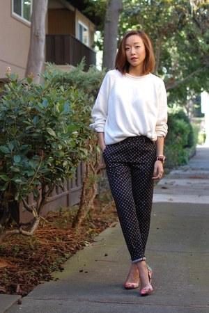 madewell sweater - Topshop pants - Aldo heels