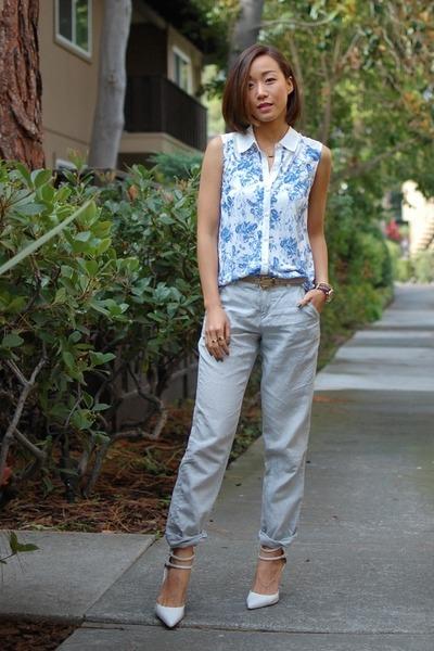 Kimchi Blue top - madewell pants - Zara heels