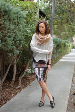 Salvatore Ferragamo shoes - H&M sweater - River Island skirt - Topshop top