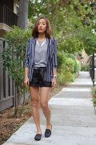 STOKTON shoes - H&M blazer - Choies shorts - Jcrew t-shirt
