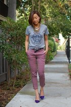 H&M pants - Aldo heels - obey t-shirt