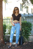 asos top - sam edelman shoes - BDG jeans - Valentino bag - ray-ban sunglasses