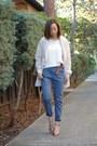 Line-dot-coat-gap-sweater-h-m-pants-zara-heels