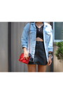 Zara-jacket-chanel-bag-river-island-skirt-kimchi-blue-top