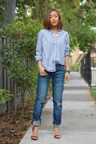 BLANKNYC jeans - JCrew shirt - French Connection necklace - Zara heels