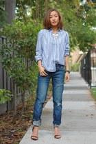 BLANKNYC jeans - JCrew shirt - French Connection necklace - Zara heels