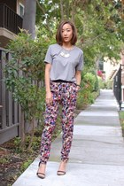 asos pants - Zara heels - Uniqlo t-shirt