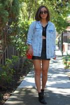 Zara jacket - Chanel bag - River Island skirt - Kimchi Blue top