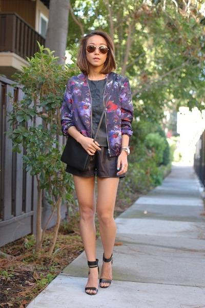 H&M jacket - Celine bag - Choies shorts - Kimchi Blue top - Steve Madden sandals