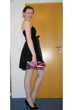 black H&M dress - black Buffalo shoes - red Accessorize purse