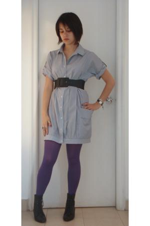 Primark dress - belt - Accesorize tights - vintage boots