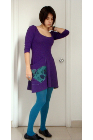 dress - Accessorize tights - Primark shoes