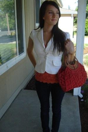 H&M jeans - Costa Blanca blazer - Costa Blanca shirt - Nordstrom bag - Steve Mad
