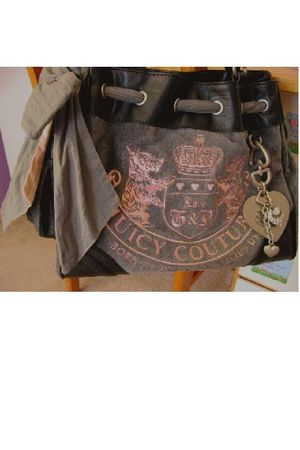 gray Juicy Couture bag - pink bag