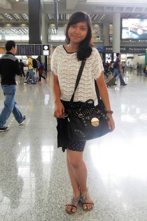 Pull and Bear shirt - Forever21 bag - thrifted shorts