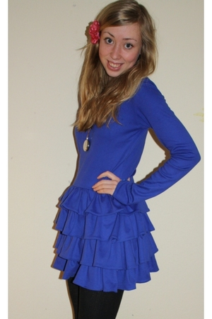blue Self Made dress - pink H&M accessories
