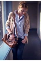 cupcake bag - Ralph Lauren blouse - second hand cardigan