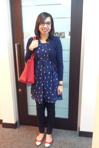 c274ada495 Vincci shoes - no brand dress - xsml jeans - longchamp bag - Gaudi cardigan