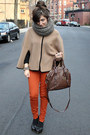 Zara-pants-forever21-shoes-forever21-scarf-michael-kors-bag-jcrew-cape