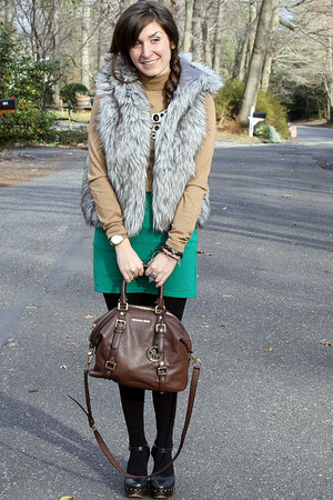 Loft vest - Forever21 shoes - H&amp;M shirt - Michael Kors bag - Michael Kors watch