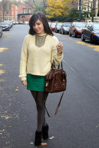 Forever 21 skirt - Bakers shoes - Forever21 sweater - H&M tights