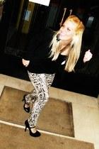 light brown snakeskin Zara pants