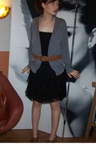 Naf Naf dress - Zara jacket - Soft Grey belt