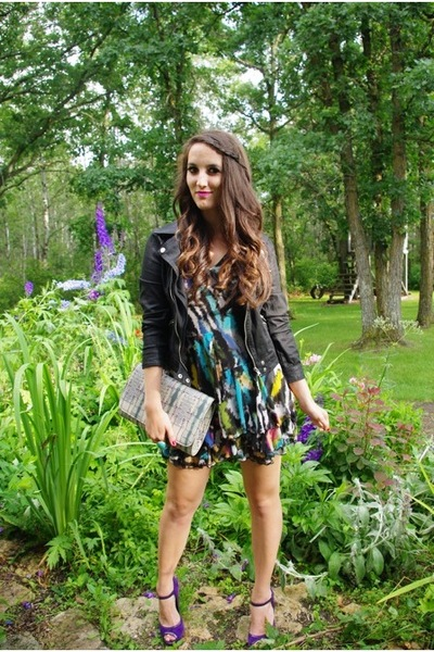 Urban Outfitters jacket - Matthew Williamson for H&M dress - Aldo shoes - Urban