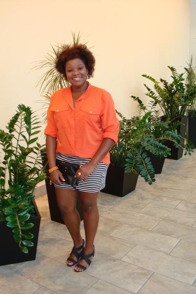 blouse - skirt - wedges