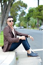 black Munguia shoes - salmon Ralph Lauren shirt - black zeroUV sunglasses