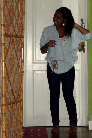 Zara shirt - Zara top - new look jeans