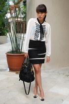 black Prada bag - white Bally shoes - black Freeway skirt