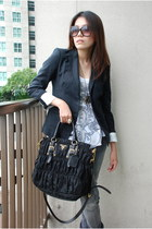 classic Prada bag - Aldo sunglasses - Zara blouse - Zara pants