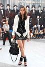 White-forever-21-blazer-black-prada-bag-black-forever-21-vest