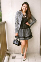 Bally shoes - Nine West bag - Zara skirt - laced Forever 21 top