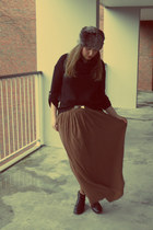 Bershka skirt - new look hat - Vero Moda jumper