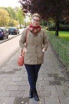 c&a coat - Graceland boots - Zara jeans - c&a scarf